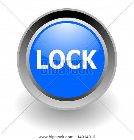 lock steel glossy icon