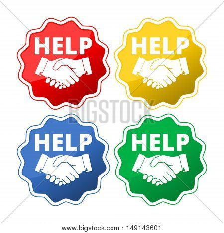 Help hand icon.Help hand icon Vector set