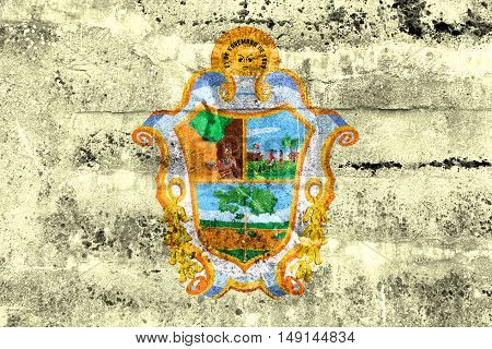 Flag Of Manaus, Amazonas, Brazil, Painted On Dirty Wall