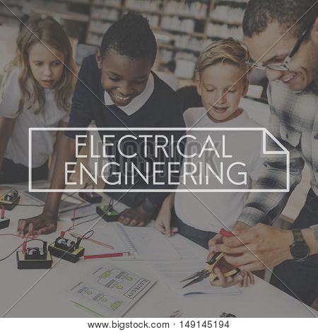 Electrical Engineering Electronics Electricity Mechanical Technology Concept