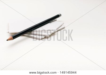 pencil on paper note white background, isolated