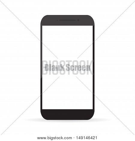 Blank screen of smartphone. Vector illustration EPS10