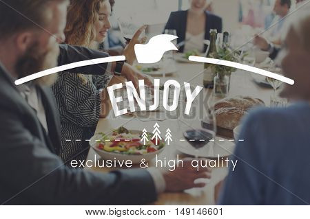Enjoy Happy Pleasure Joy Concept