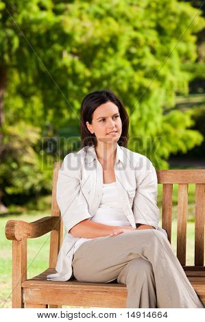 Young Woman On The Bench