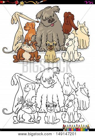 Cartoon Dogs Coloring Page
