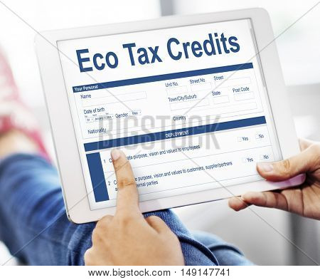 Eco Tax Credit Page Graphic Concept