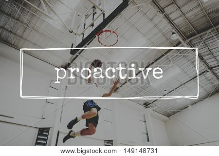 Proactive Dynamic Energetic Skills Business Action Concept