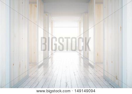 Wooden Hall Interior