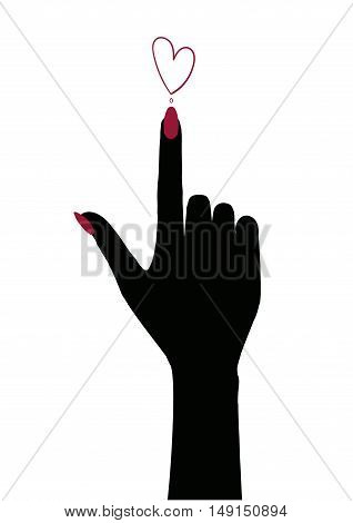 Vector illustration Hand Icon Symbol 15 / 10000 АН
