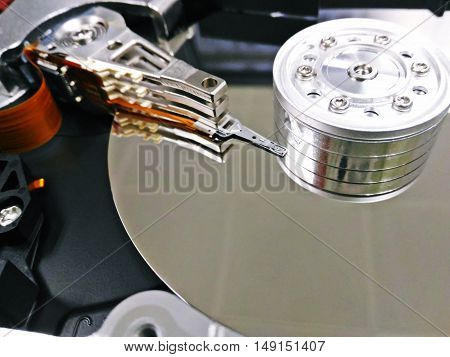 Close of harddisk's internal mechanism hardware .