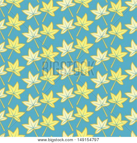 vector seamless background pattern of autumn maple leaves