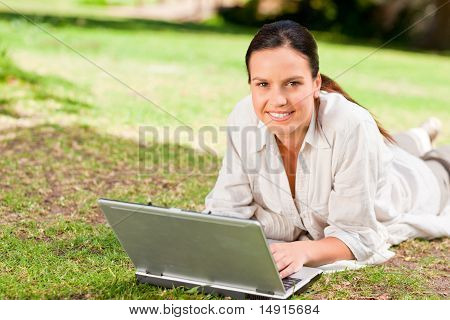 Woman Working On Her Laptop