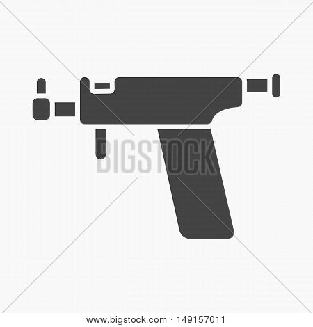 Ear piercing gun icon cartoon. Single tattoo icon from the big studio collection.