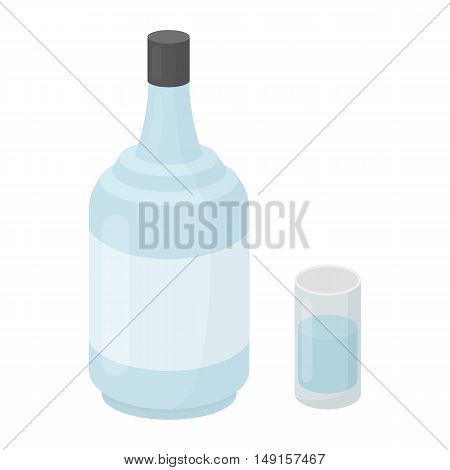 Gin icon in cartoon style isolated on white background. Alcohol symbol vector illustration.