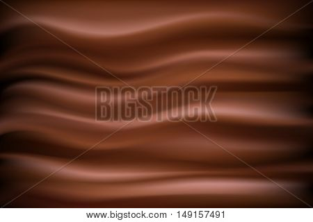 Abstract chocolate background vector. Illustration chocolate backdrop wavy