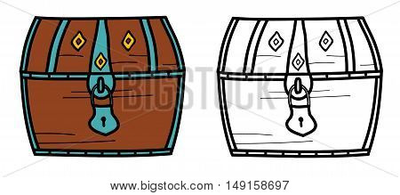 Vector illustration of a treasure closed chest