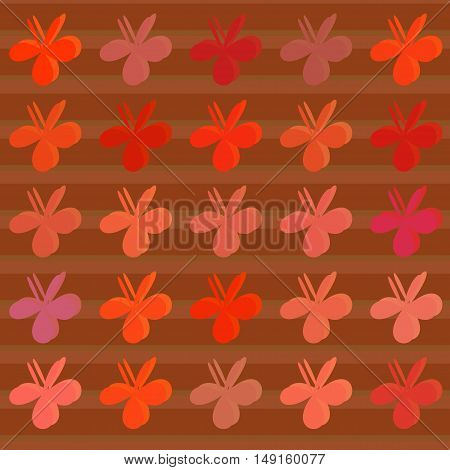 Colored clovers background. Vector pattern. art style