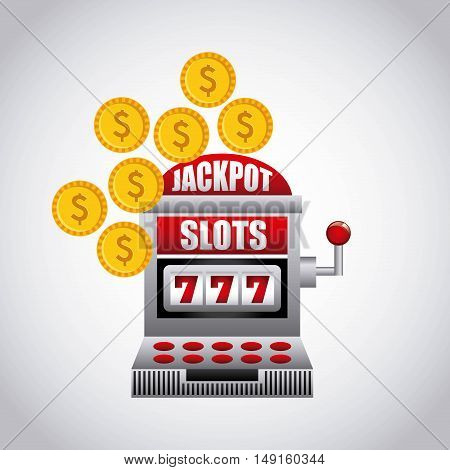 jackpot slots machine icon vector illustration design