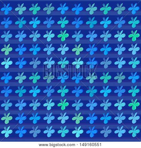 Colored clovers style art background. Vector pattern