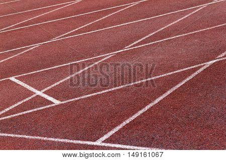 Athletics Stadium Running track curve red floor