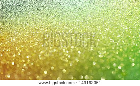 Gold nuggets sparkling carpet. Close-up view, very shallow deep of field .