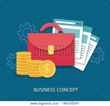 Vector illustration of business flat design concept.