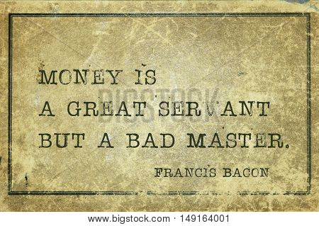 Money Is Bacon