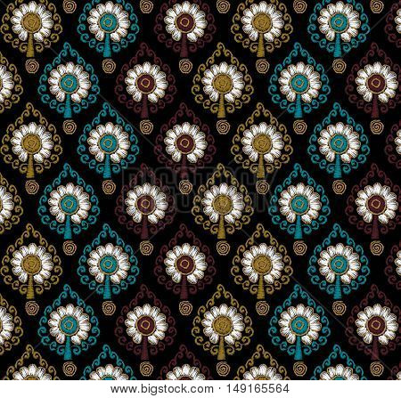 Abstract geometric pattern composed                  mixtures of geometric shapes
