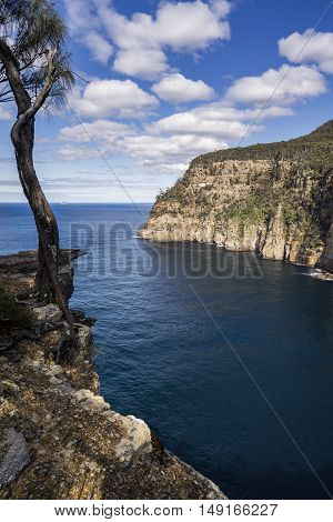Waterfall Bay on the Tasman Peninsula, Tasmania, Australia - Tourism and Outdoors
