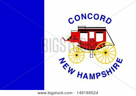 Flag of Concord is the capital city of New Hampshire United States