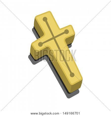 Wood cross, crucifix against vampires. Anti Vampire tool and Christianity Symbol. Element for Happy Halloween party