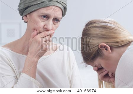 Woman Telling About An Illness