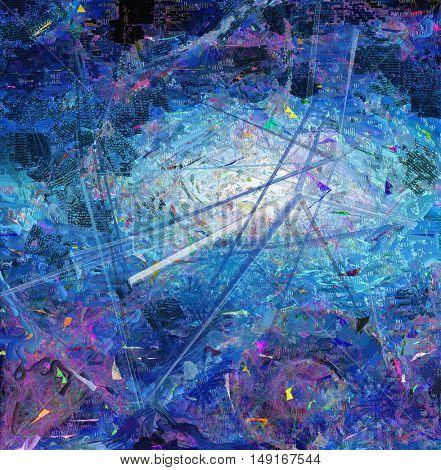 Abstract canvas, galaxy