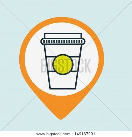 cup coffee plastic hot vector illustration eps 10