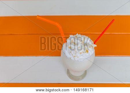 Milk Shake With Whip Cream