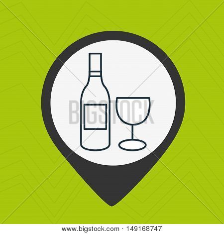 wine cup drink glass vector illustration eps 10