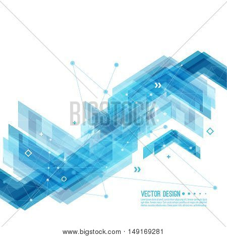 Abstract background with blue stripes corner. Concept new technology and dynamic motion. Digital Data Visualization. For cover book, brochure, flyer, poster, magazine, booklet, leaflet