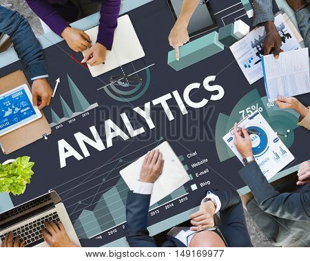 Analytics Marketing Business Report Concept