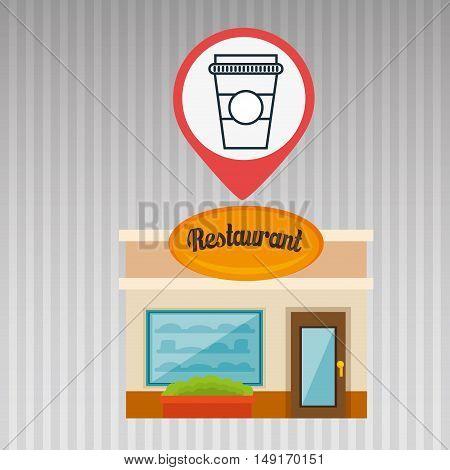 restaurant building food vector illustration eps 10