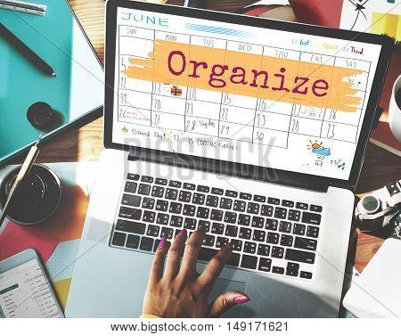 Organize Agenda Planner Reminder Calendar To Do Concept