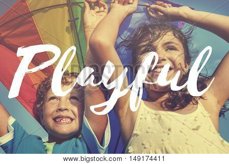 Playful Positive Vibes Freedom Concept