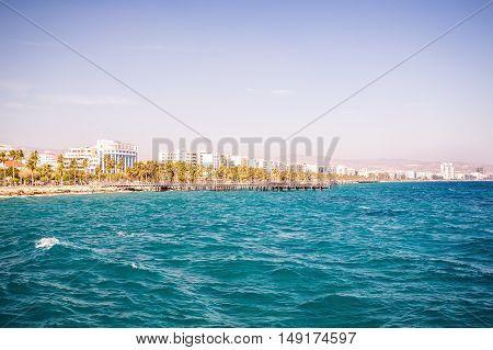 Mediterranean Coast In Limassol, Cyprus