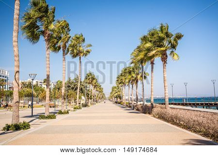 Promenade In Limassol, Republic Of Cyprus