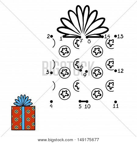 Numbers game, education dot to dot game for children, Christmas Gift