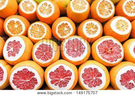 Fresh Fruits On A Turkish Market