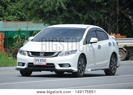 CHIANGMAI THAILAND -AUGUST 18 2016: Private Honda Civic. On road no.1001 8 km from Chiangmai Business Area.