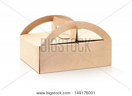 kraft packaging recycle paper box isolated on white background