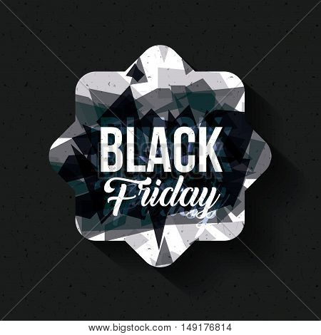 Black Friday icon. ecommerce sale decoration and advertising theme. Black and white design. Vector illustration