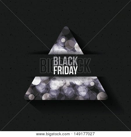 Black Friday and blured lights icon. ecommerce sale decoration and advertising theme. Black and white design. Vector illustration