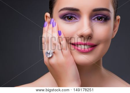 Beautiful woman in fashion concept